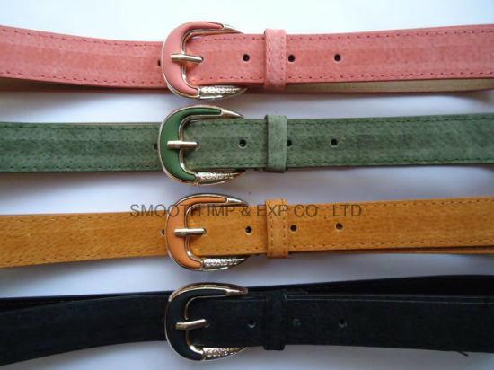 Custom Fashion Decorative PU Leather Pin Buckle Belt Garment Accessories