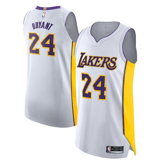pick up 3d034 6ae46 Los Angeles Lakers Kobe Bryant #24 #8 Authentic Classic Basketball Jersey