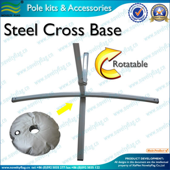 Cross Stand with PVC Water Bag for Flying Flag (M-NF23M03012)