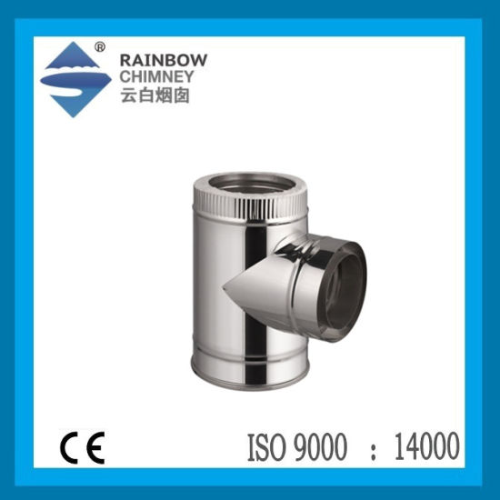 Ce Stove Chimney 90 Degree Tee with Cap Chimney
