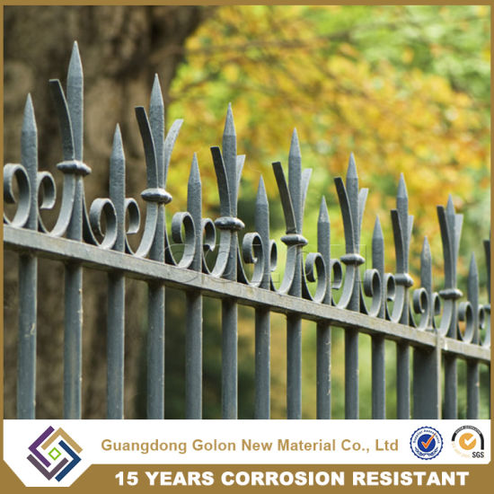 Quality Products Exterior Wrought Iron Fence Design For Garden Homes Villas School