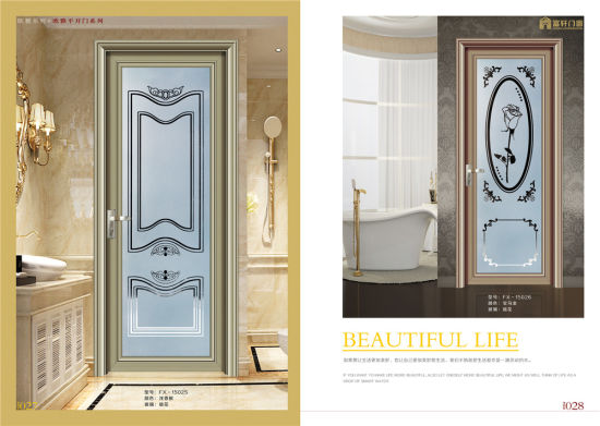 China Frosted Glass Aluminum Alloy Casement Kitchen Door China