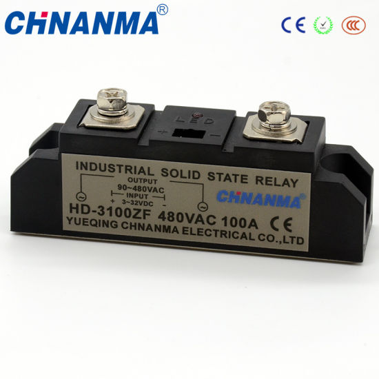 Solid State Relay Industry SSR 100A with LED Indicate