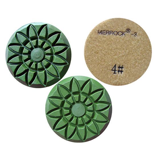 18 PCS 4 Inch Diamond Floor Polishing Pad Concrete Terrazzo Granite Marble Stone