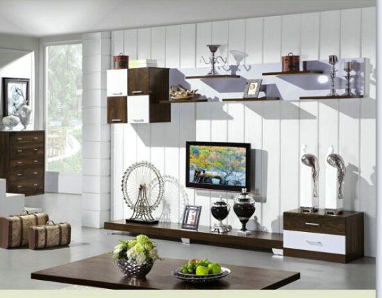 Modern Living Bedroom Furniture Wall Unit - China MDF Wall ...