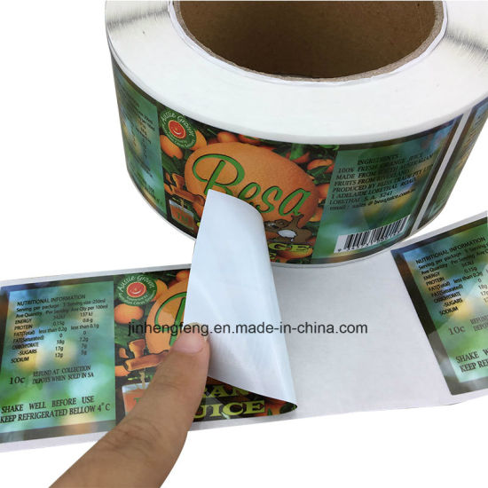 China Printing Adhesive Roll Lables Paper Personalized Label