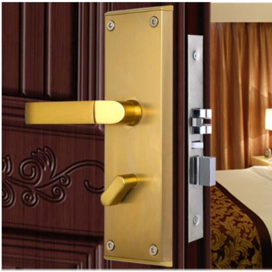 Electromagnetic Card Scanning Electronic Hotel Apartment Door Lock With Keys Kb101