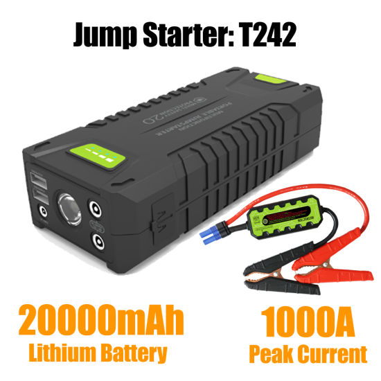 China T242 Car Jump Starter With Peak Current 1000a China Battery