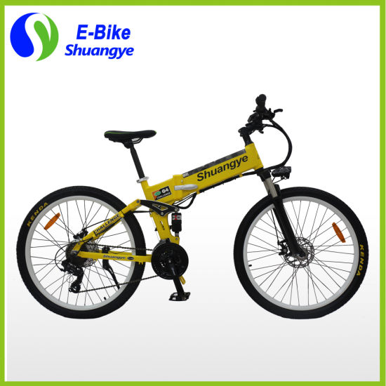 26 Inch 36V 250W 350W Folding Mountain Electric Bike pictures & photos