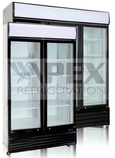 Sliding Double Door Upright Beverage Cooler with Ce / CB / RoHS / ETL / Saso pictures & photos