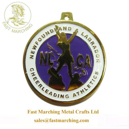 Custom Logo Enamel Neck Ribbons Metal Corporate Medals for Sale