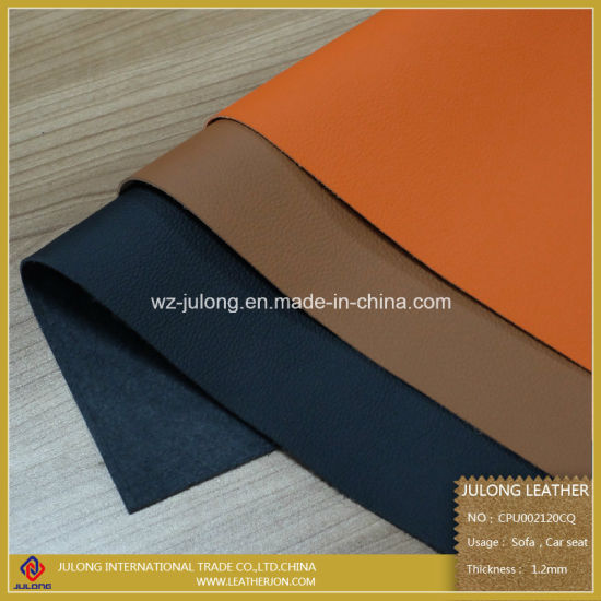 CPU Environmental-Protection Microfiber Faux Upholstery PU Artificial Synthetic Sofa Leather