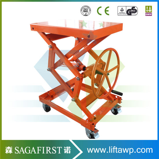 1ton Hydraulic Loading Pallet Roller Scissors Lift pictures & photos
