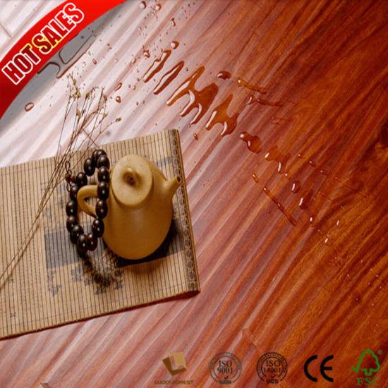 China Cheap Price Swiftlock Handscraped Hickory Laminate Flooring