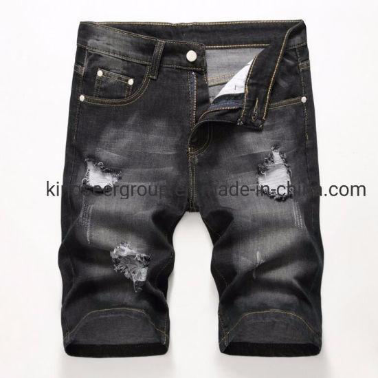 2019 Latest Fashion Gray Stretch Short Denim Men Jeans Ks-D002