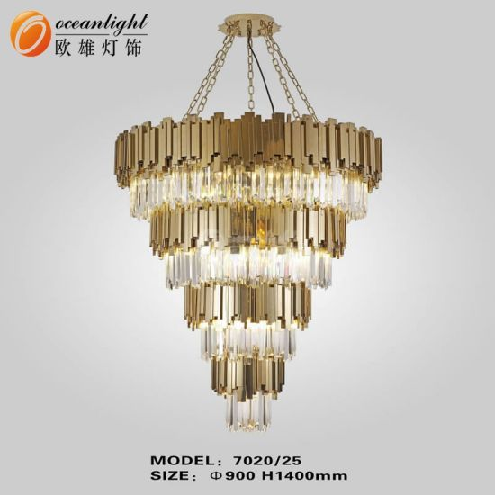 Customize Hotel Decoration Lighting Crystal Chandelier in Chandeliers Lamp