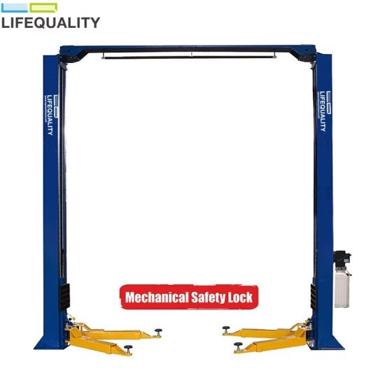 9000lbs Two Post Clear Floor Car Lift Price for Sale