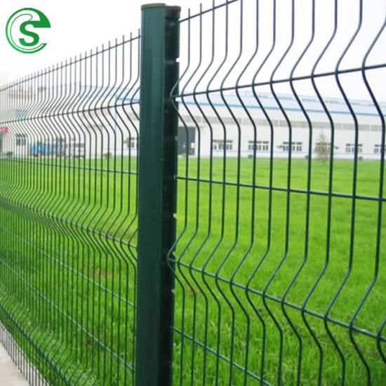 Beautiful Green 3D Bending Welded Fence Panel