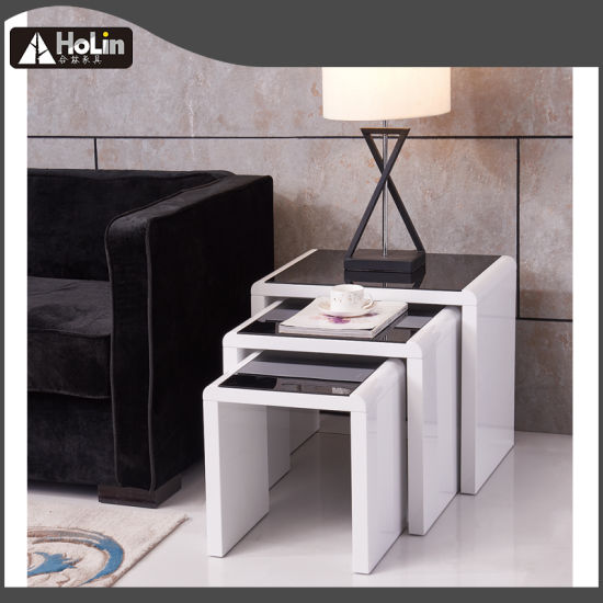 China Black High Gloss Coffee Table/Tea Table/Nesting Tables ...