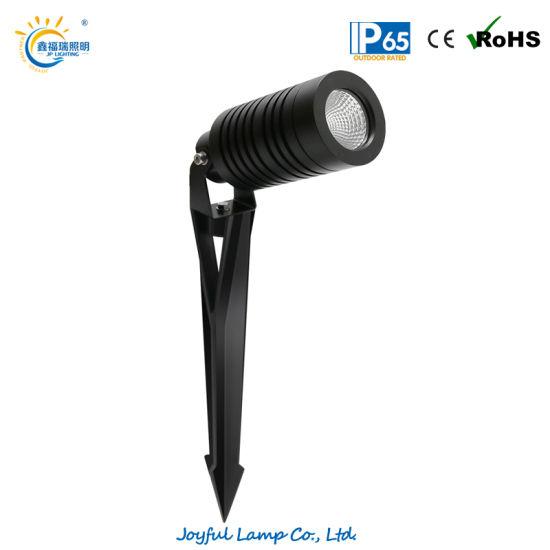 Aluminum Outdoor LED Spot Light Spike Light 14W LED Projector Light Fecade Light DC24V LED Garden Spot Light Landscape Light with Anti-Glare Hood Optional
