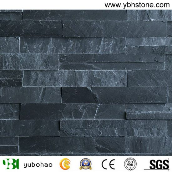 Black/Rusty/Yellow/Green/Pink/White/Multi Colored Culture Stone/Slate for Wall Cladding/Garden Decoration/Roofing Z Shape/Building Material