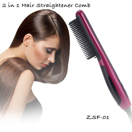 Constant Temperature Hair Brush Fast Hair Straightener Comb 6 Levels