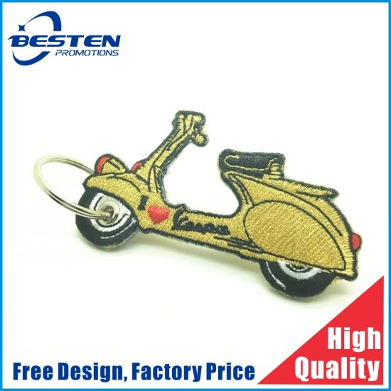 Top Quality Professional Embroidery Patch Keychain for Clothing/Cap/Shoe/Other pictures & photos