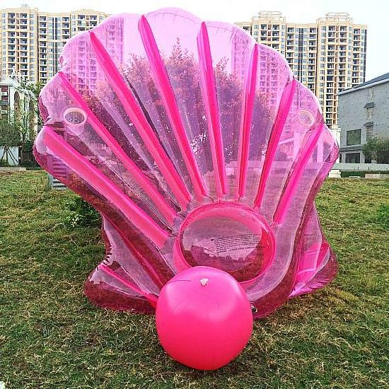 Holiday Swimming Inflatable Cameo Shell Sofa Pool Toy Mat Float pictures & photos