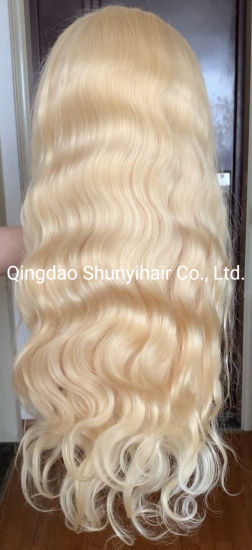 Popular Wholesale 613 Color Body Wave Brazilian Virgin Human Hair 24 Inch Full Lace Wig with Baby Hair