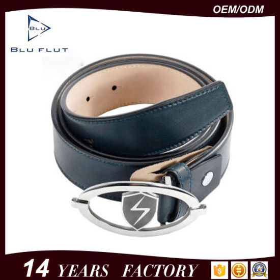 3321c40a28 Factory Price Custom Logo Metal Buckle Leather Waist Belt for Men pictures    photos