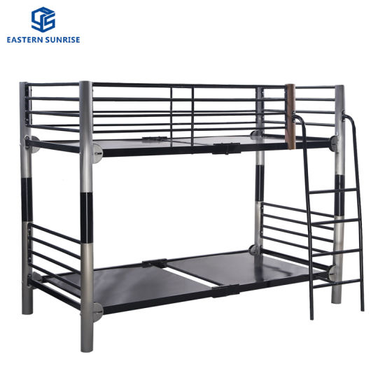 Powder Painting Strong Metal Steel Iron Bunk Bed Double Bed