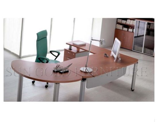 Modern Wooden Executive fice Desk Cheap Chinese Furniture SZ