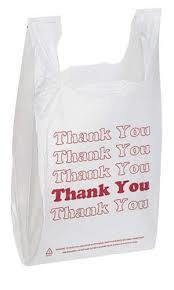 "Plastic Vest Bag with ""Thank You"" Printing / Colorful T-Shirt Bag"