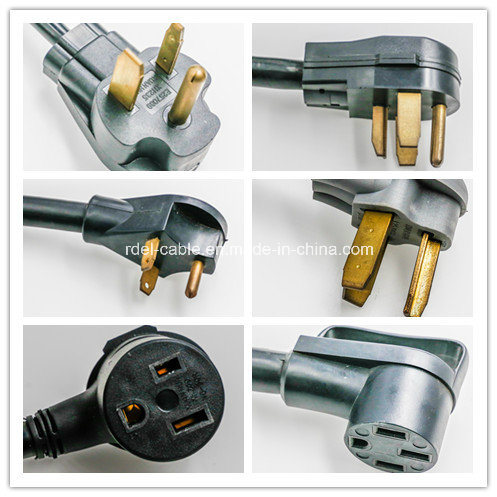 UL VDE Approval AC Power Cord Cable 6′ 2/6 1/8 Srdt Range 50AMP pictures & photos