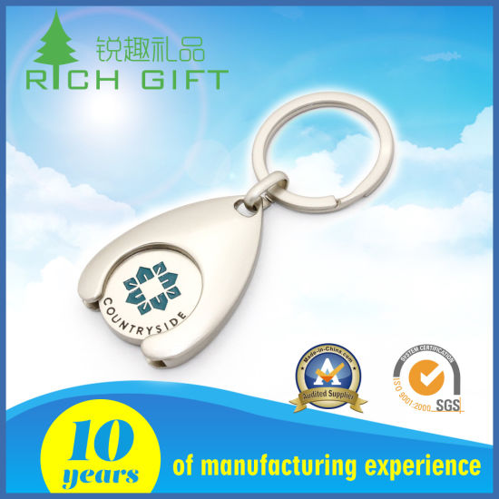 China OEM Factory Durable Trolley Coin / Token Manufacture Keychain