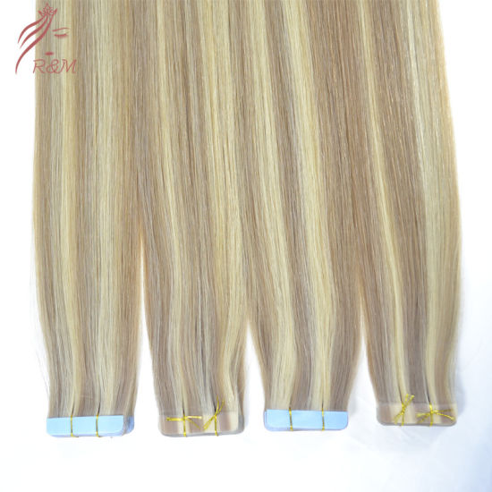 Wholesale Top Quality 100% Virgin Human Remy Virgin Tape Hair Extension Unprocessed