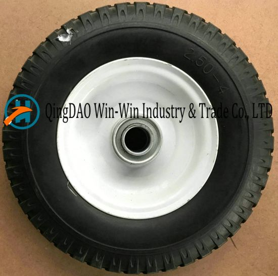 Flat-Free PU Wheel Used on Castor Wheel (2.50-4) pictures & photos