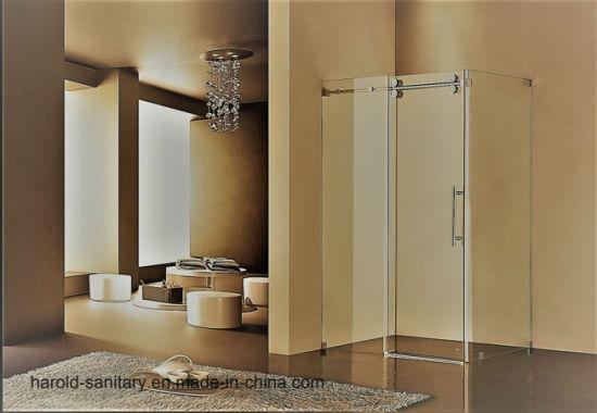 China 8-10mm Tempered Glass Shower Enclosure Roller Sliding Door ...