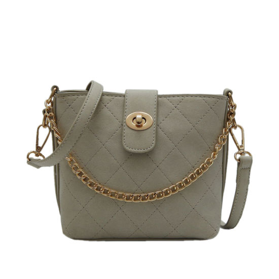 Simple Style Stitching Material Two Shoulder Strap Ladies Bag pictures & photos