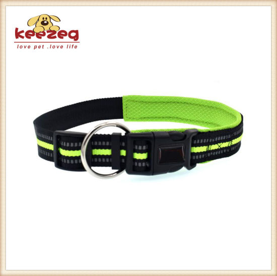 Comfortable/Reflective Nylon Dog Collars with Padding (KC0093) pictures & photos