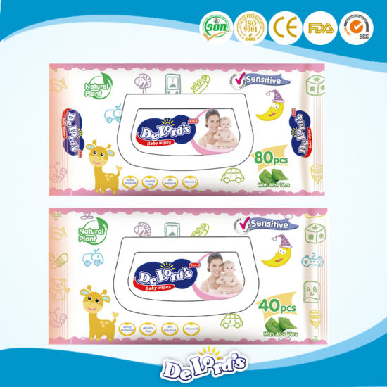 40PCS Non-Woven Skin Care Baby Wipes pictures & photos