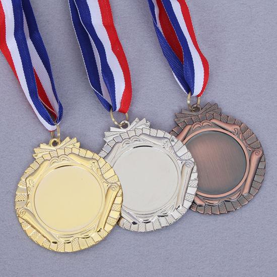 China Manufacture Cheap Wholesale Custom Metal Gold Award Marathon Running Trophies Sport Medal No Minimum Order