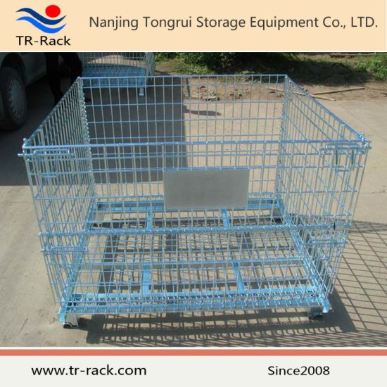 Industrial Steel Folding Warehouse Storage Cage
