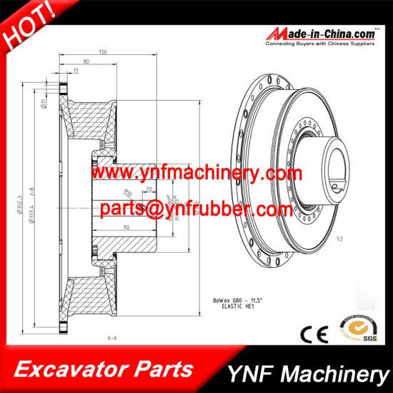 Elastic Rubber Coupling for Air Compressor