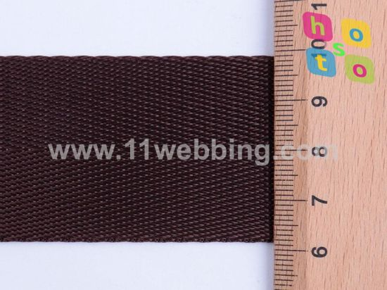 Herringbone Coffee Imitation Nylon Webbing for Bags Shoulder Belt pictures & photos