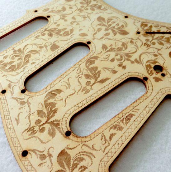 DIY Parts Custom Carved Wood SSS Strat Guitar Pickguard