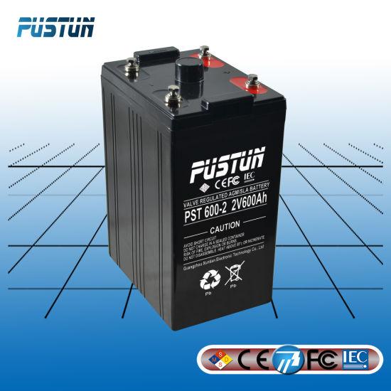 2V 600ah Gel Sulfuric Acid Home Use Storage Battery
