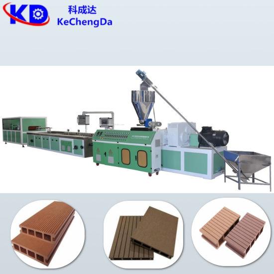 Plastic Sjsz 51/65 PE WPC Decking Board Profile Production Line