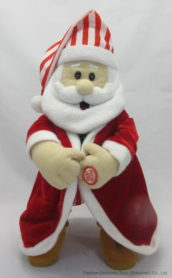 Christmas Valentine Halloween Animation Plush Toy Movement Flashing Gift Santa/ Claus pictures & photos