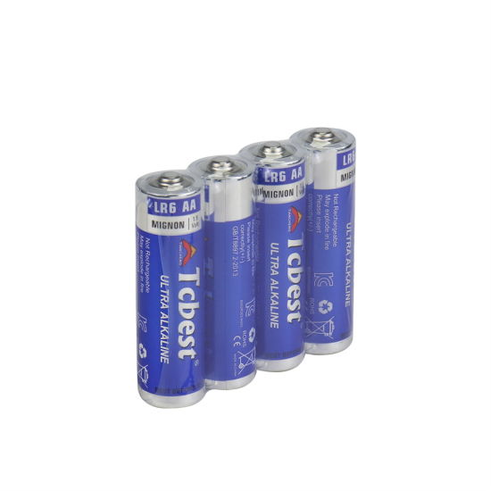 Tcbest Factory Directly Supply Ultra Alkaline Battery Lr6 AA 1.5V Super Alkaline Primary Dry Cell Batteries for Toys/Retailing